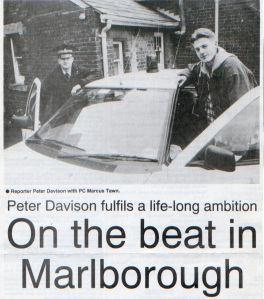 Cub reporter Peter Davison, on the beat with Marlborough Police